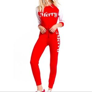 Wildfox Merry Sweatshirt & Jogger Set
